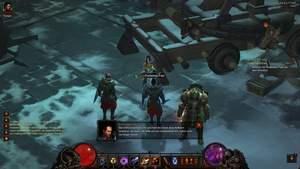 Diablo 3 - Komplettlösung : Feldwebel Pale möchte, dass wir die dämonischen Kriegsmaschinen zerstören.