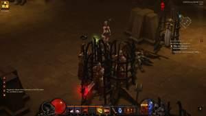 Diablo 3 - Komplettlösung : Wir befreien Hauptmann Davyd und seine Eisenwölfe aus den Käfigen.