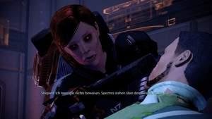 Mass Effect 2 : Setzen Sie Ihre Gesinnungs-Dialoge (hier: abtrünnig) richtig ein, können Sie das Verhör drastisch verkürzen.