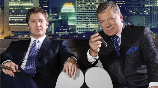 "James Spader und William ""Captain Kirk"" Shatner in Boston Legal"