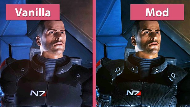 Mass Effect - Do-It-Yourself Mod-Remaster im Vergleich zum Original