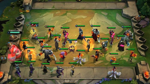 Heroes in Teamfight tactics are all from Legaue of Legends.