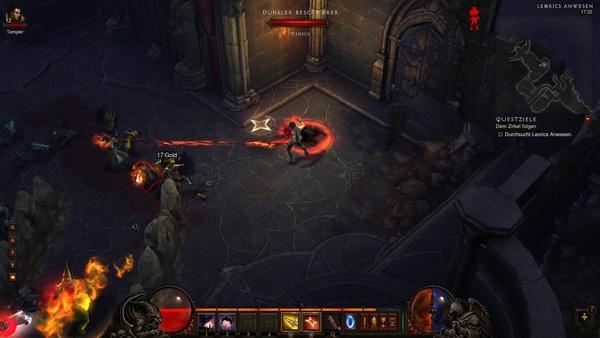 Diablo 3 - Komplettlösung : In Leorics Anwesen bekommen wir es mal wieder mit Maghdas dunklem Zirkel zu tun.