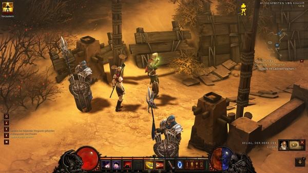 Diablo 3 - Komplettlösung : Eingang zum Außenposten von Khasim