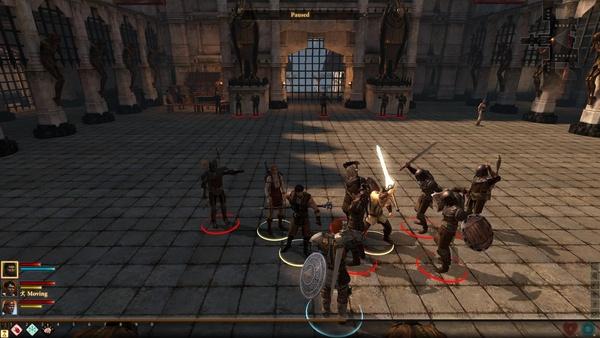 Dragon Age 2 : Der Kampf gegen die Deserteuere findet auf dem großen Platz der Galgenburg statt. An den Seiten erscheinen während des Gefechtes neue Gegner.