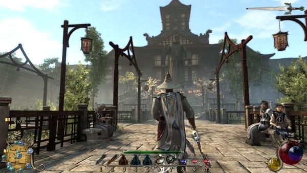 Two Worlds 2 : Die Universität von New Ashos bildet das Zentrum der Stadt und ist Anlaufpunkt für viele Quests.