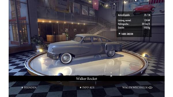 Screenshot zu Mafia 2 - Autozyklopädie mit allen Details