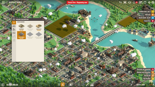 Screenshot zu Rise of Industry - Screenshots der Wirtschaftssimulation