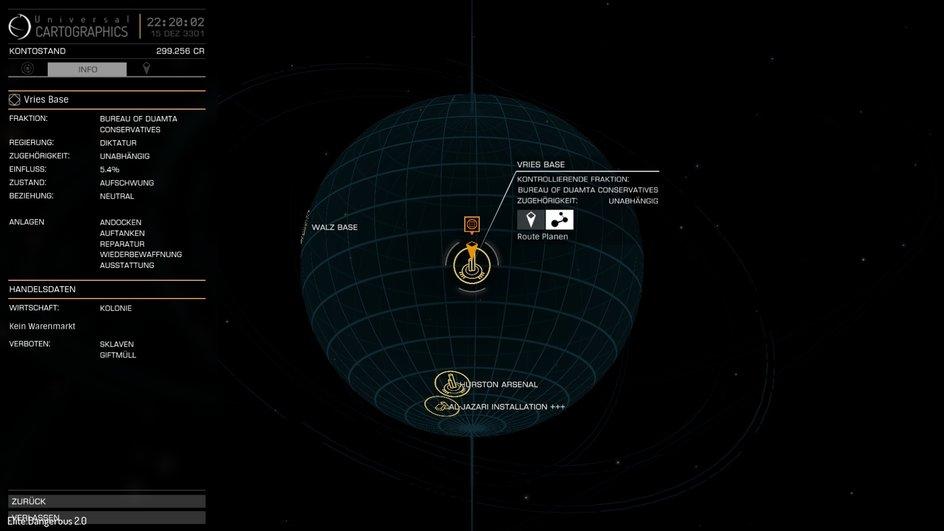 Elite Planetenübersicht