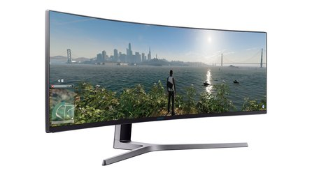 Samsung CHG90 QLED Gaming - Super-Ultra-Wide-Monitor auf 49 Zoll mit HDR