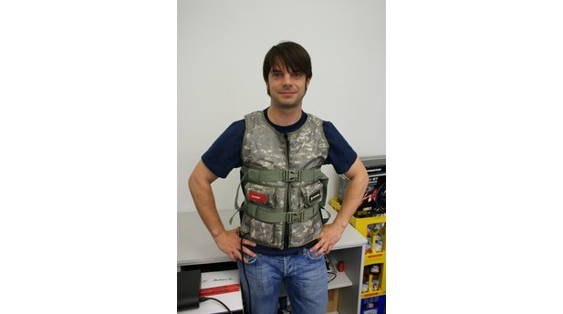 3rd space gaming vest in use