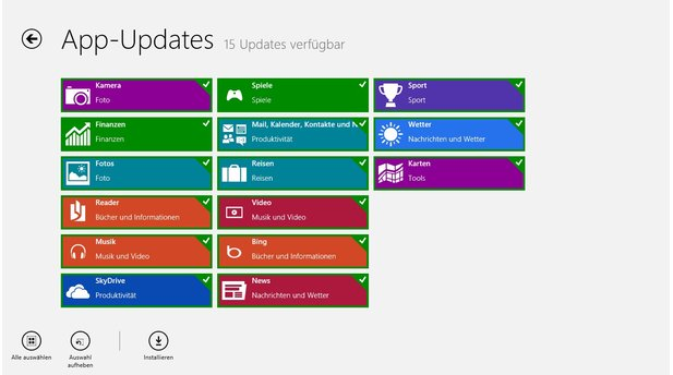 Apps unter Windows 8 RT