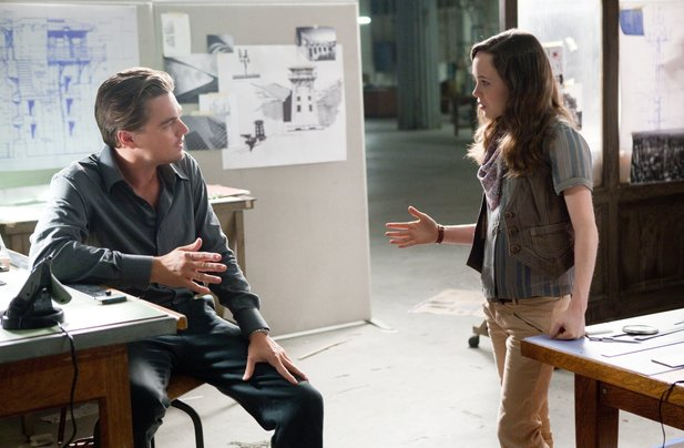 Leonardo DiCaprio und Ellen Page in Inception