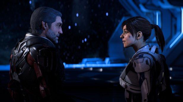 Sara Ryder und ihr Vater Alec Ryder