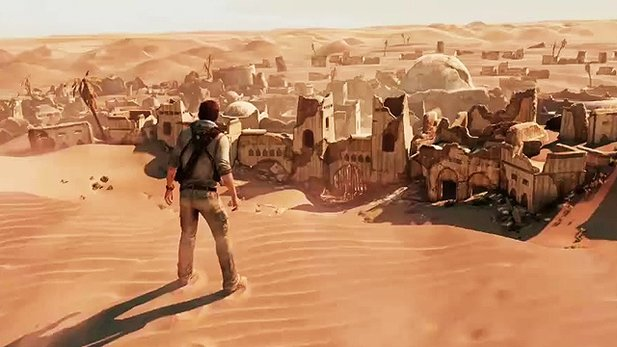 Uncharted 3: Drake's Deception - Gameplay-Video aus der Wüste