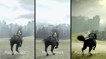 Shadow of the Colossus - Gameplay-Trailer vergleicht Adventure auf PS2, PS3 und PS4 Pro