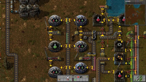 In Factorio optimieren wir Produktionsketten.