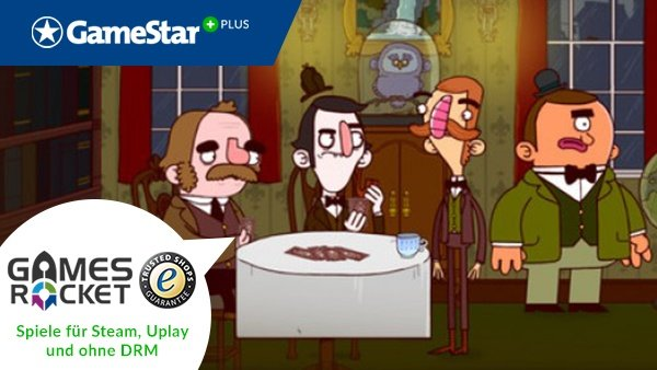 Mit GameStar Plus und Gamesrocket gibt es jeden Monat eine neue Gratis-Vollversion. Im Januar erhalten Sie »Adventures of Bertram Fiddle: Episode 1: A Dreadly Business« gratis!