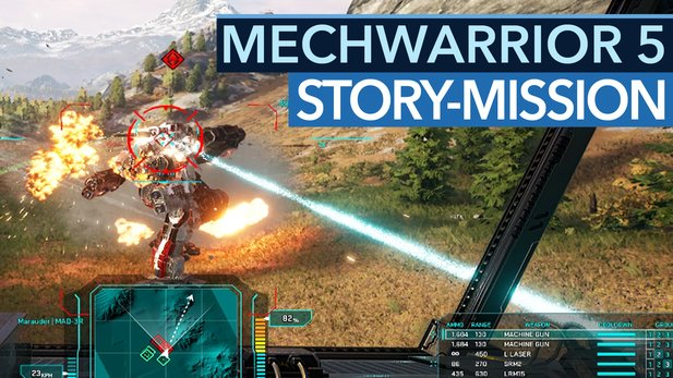 MechWarrior 5 - Gameplay-Preview: So effektvoll läuft eine Story-Mission ab