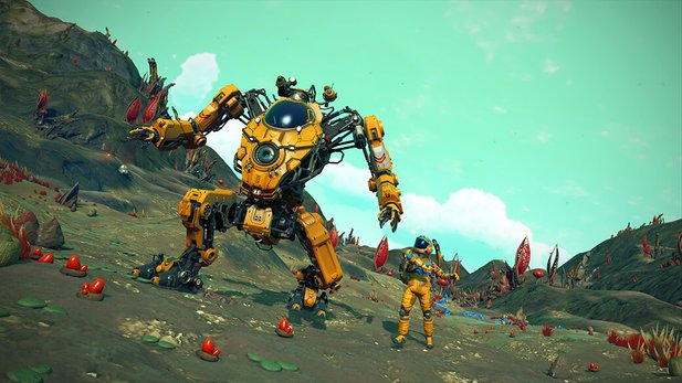 For some time now there have been mech runners in No Man's Sky.
