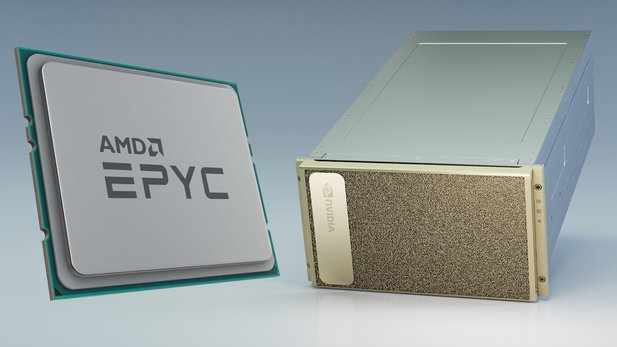 So far, Nvidia has relied on Intel processors for the DGX systems for the professional sector. That changes with the DGX A100.
