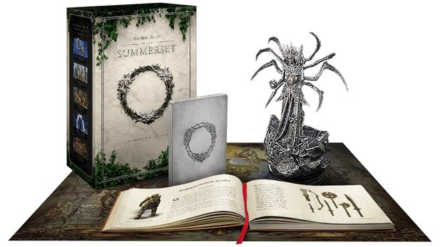 The Elder Scrolls Online: Summerset Collector's Edition mit Mephala-Statue.