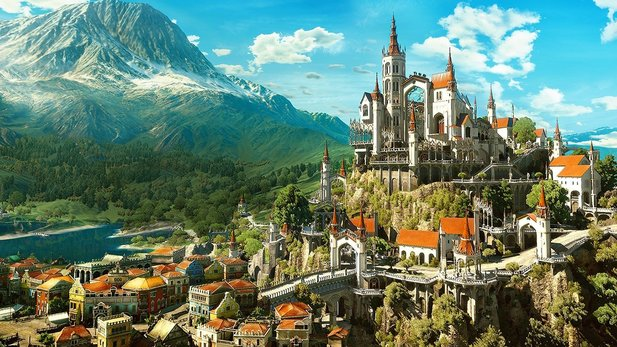 Die Stadt Beauclair aus The Witcher 3: Blood and Wine.
