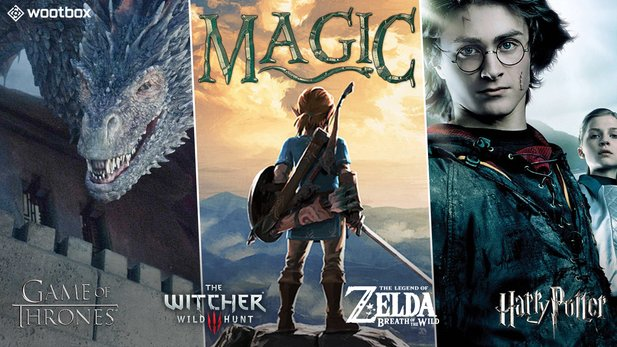 Die Wootbox »Magic« ist voller zauberhafter Franchises, wie Game of Thrones, The Witcher, Zelda und Harry Potter