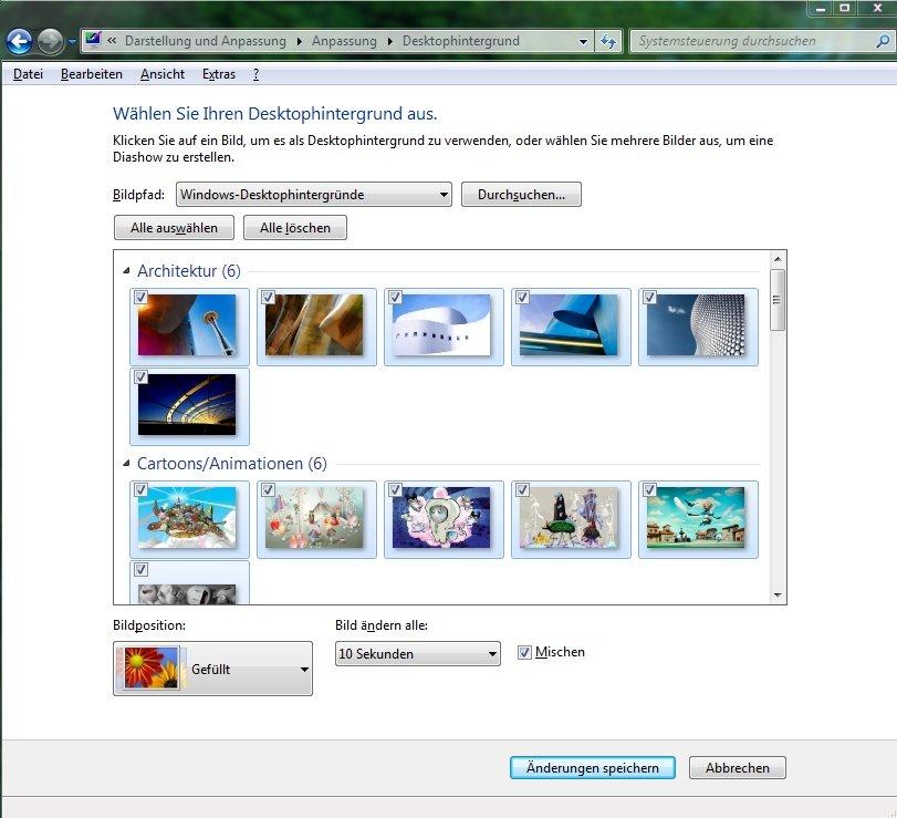Win7 desktop hintergrund eigene bilder