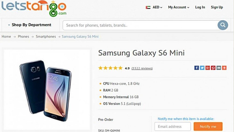Samsung Galaxy S6 Mini Technische Daten Auf Händlerwebseite Gamestar