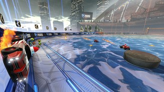 <b>Rocket League</b><br>Screenshots vom dem Event »Winter Games«