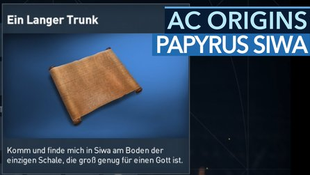 Assassin's Creed: Origins - Papyrusrätsel »Ein langer Trunk« in Siwa: Fundort & Lösung
