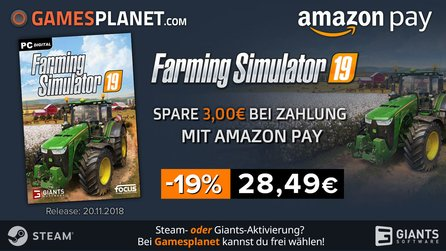 Amazon Pay Promo - Farming Simulator 19