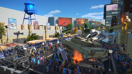 Planet Coaster - Hollywood-DLC Studios Pack im Trailer