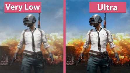 Playerunkown's Battlegrounds - Minimale und Ultra Grafik-Details im Vergleich
