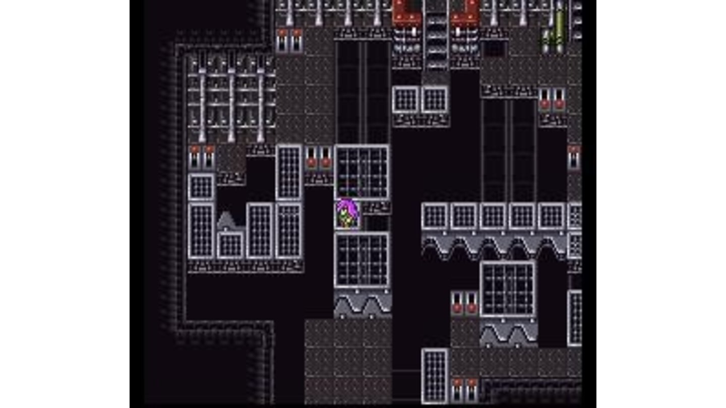 A modern-looking dungeon with lots of switches to operate