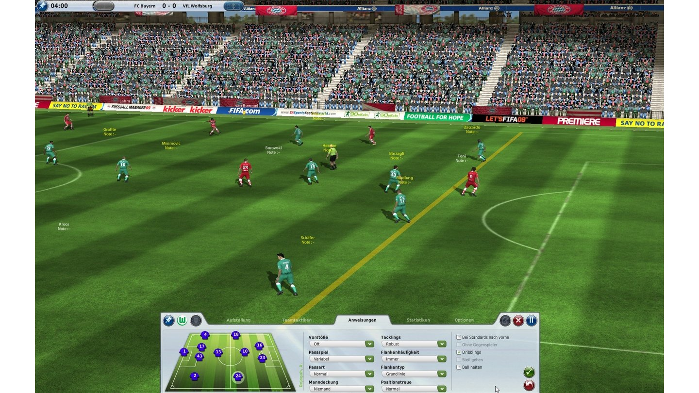 Fussball Manager 09 - Bilder aus der Testversion