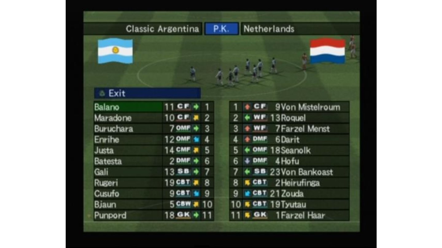 Penalty kicks between Classic Argentina and Netherlands