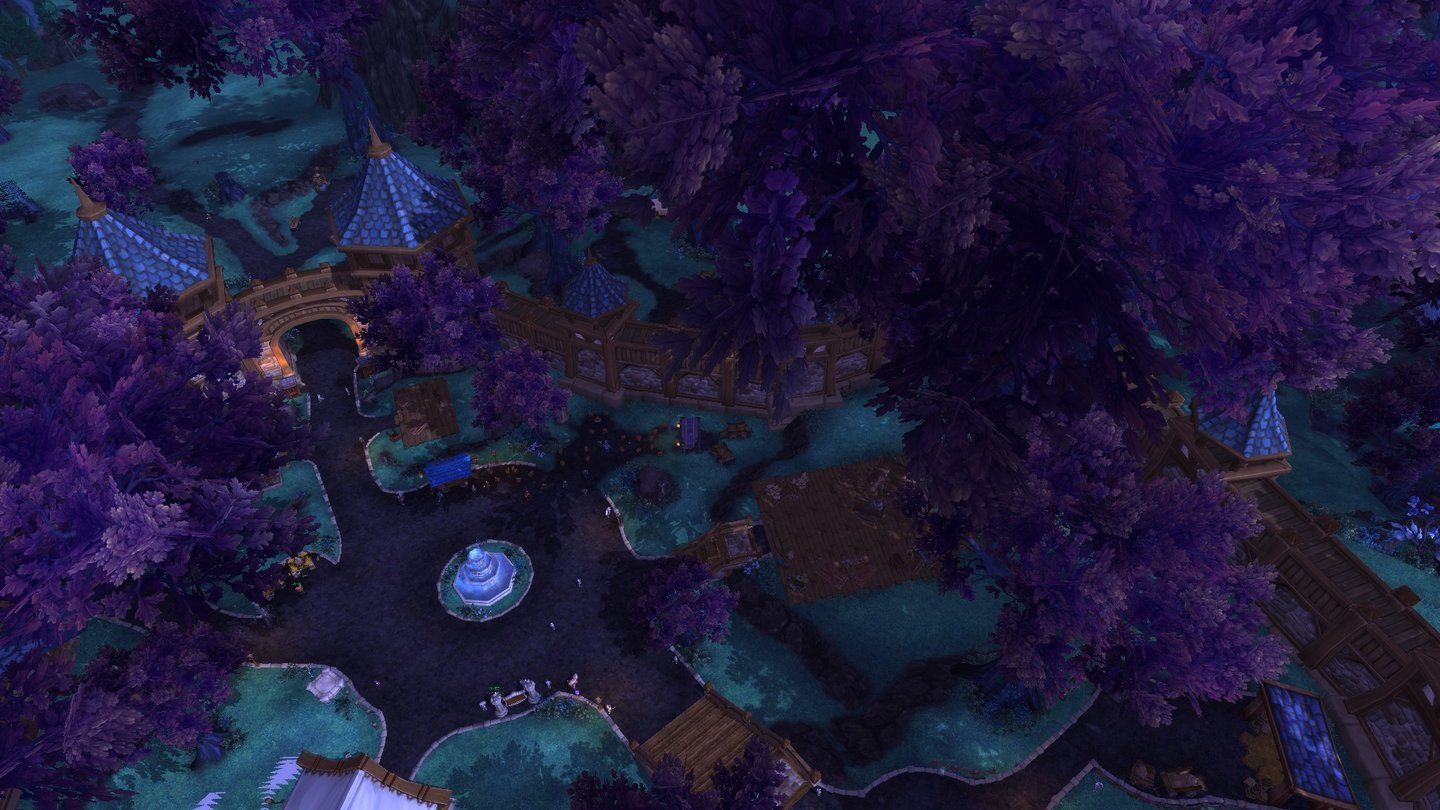 World of Warcraft: Warlords of Draenor… wo sie ein idyllischer Laubwald umgibt.