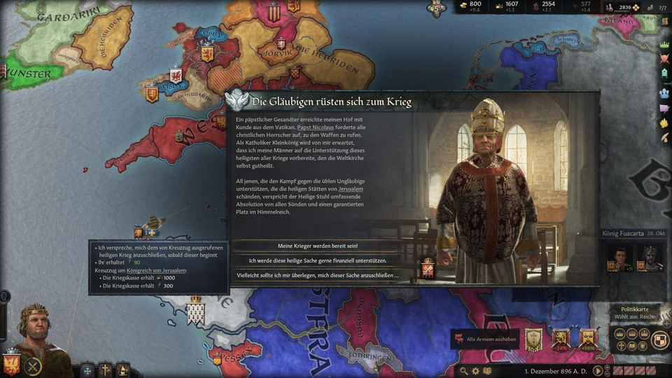 Bei Crusader Kings...