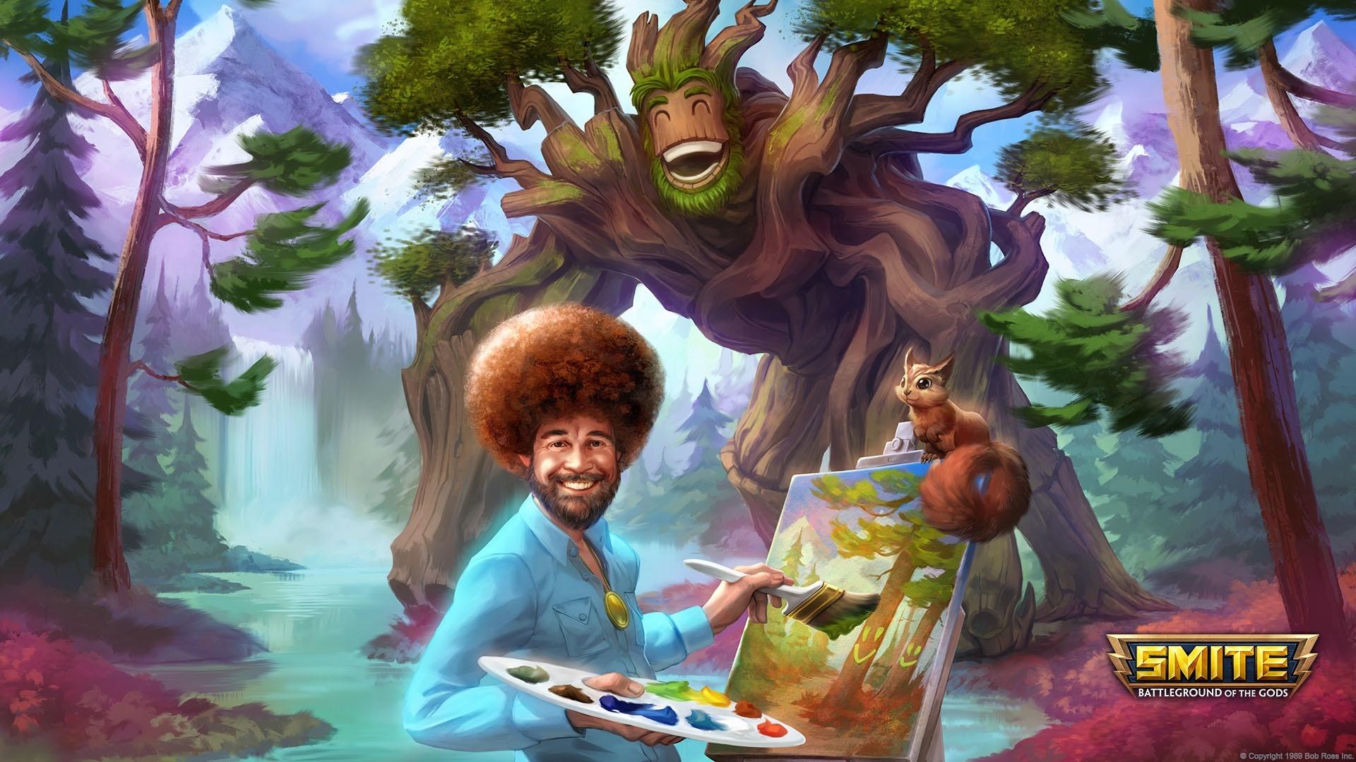 Smite - »The Joy of Ganking«: Bob-Ross-Skin für das Götter-MOBA ...