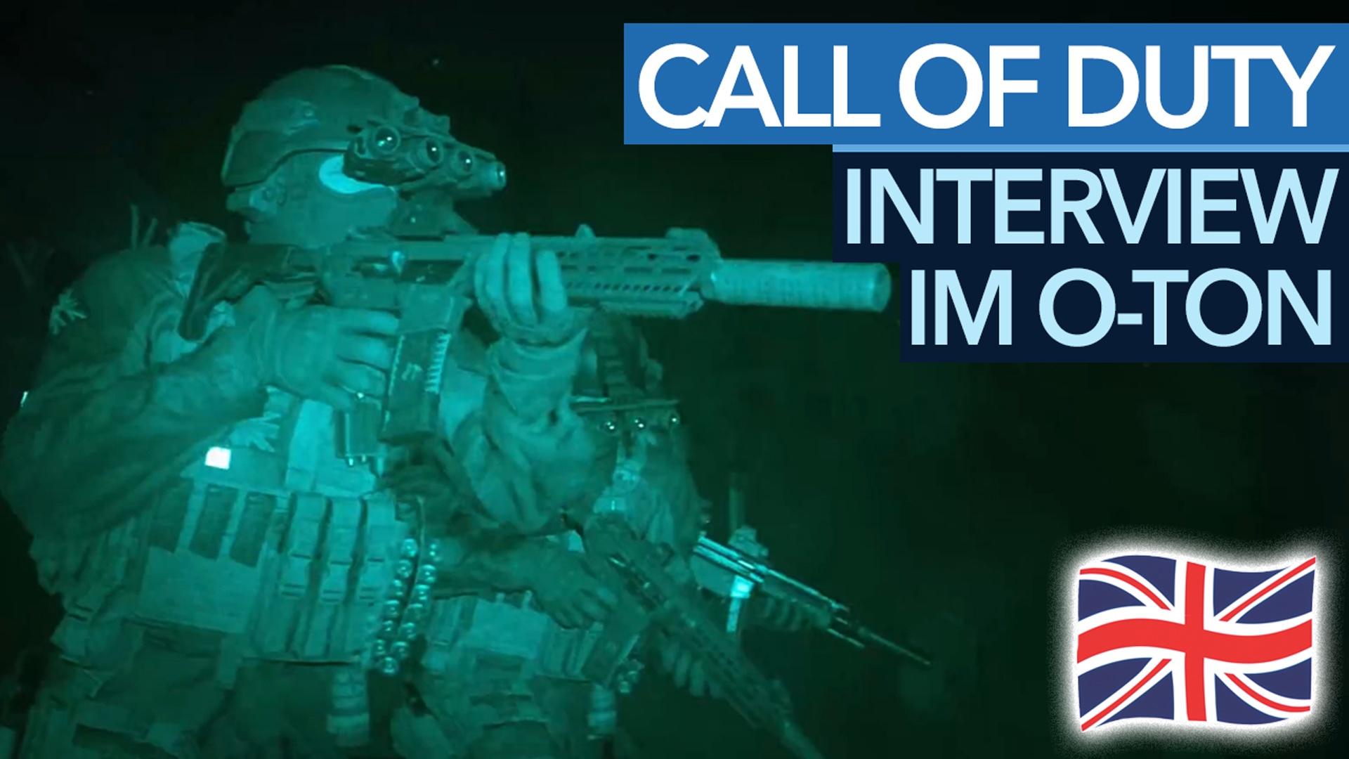 Call of Duty: Modern Warfare - Interview im englischen Originalton.