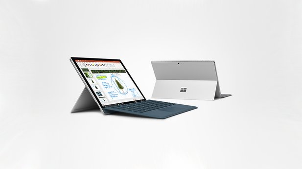 Microsoft Surface Pro, 31,25 cm (12,3 Zoll) 2-in-1 Tablet (Intel Core M, 4GB RAM, 128GB SSD, Win 10 Home) Platin