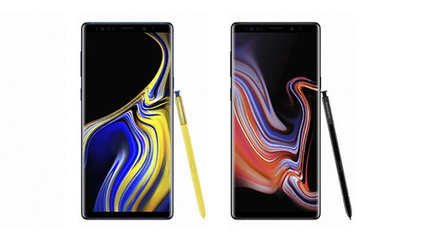 Samsung Galaxy Note 9 in zwei Farbvarianten.