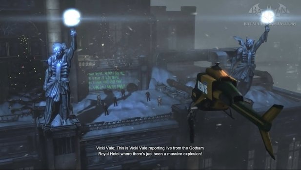 Hinweise auf den Court of Owls in Batman: Arkham Origins.
