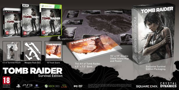 Die Survival Edition von Tomb Raider.