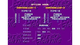 You can use the three or six button controllers with this game.