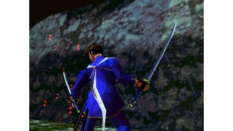 Two blades. Bushido Blade 2 introduces two additional sword styles: the sword-in-sheath iaijutsu style, and the two-sword nito style, as seen here.