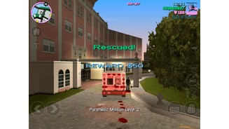<b>GTA: Vice City 10th Anniversary Edition</b><br>Wer in einem gestohlenen Krankenwagen, Polizeiauto oder Feuerlöschzug sitzt, kann mit Nebenmissionen Geld verdienen.