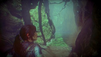 <b>Rise of the Tomb Raider: Baba Yaga: The Temple of the Witch </b><br>Die Äste der Bäume werfen bedrohliche Schatten.
